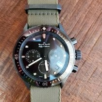 Blancpain Fifty Fathoms Bathyscaphe pre-owned 43.6mm Black Chronograph Flyback Date Textile
