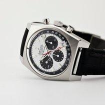 Zenith El Primero Chronomaster pre-owned 37mm White Chronograph Date Crocodile skin