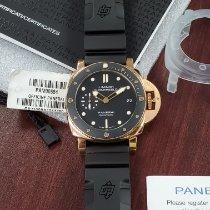 Panerai Luminor Submersible 1950 3 Days Automatic Oro rosa 42mm Negro Sin cifras