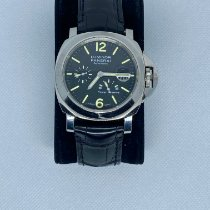 Panerai Luminor Power Reserve pre-owned 44mm Black Leather