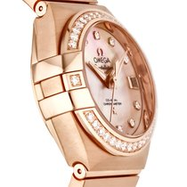 Omega Red gold Automatic Brown 27mm new Constellation Ladies