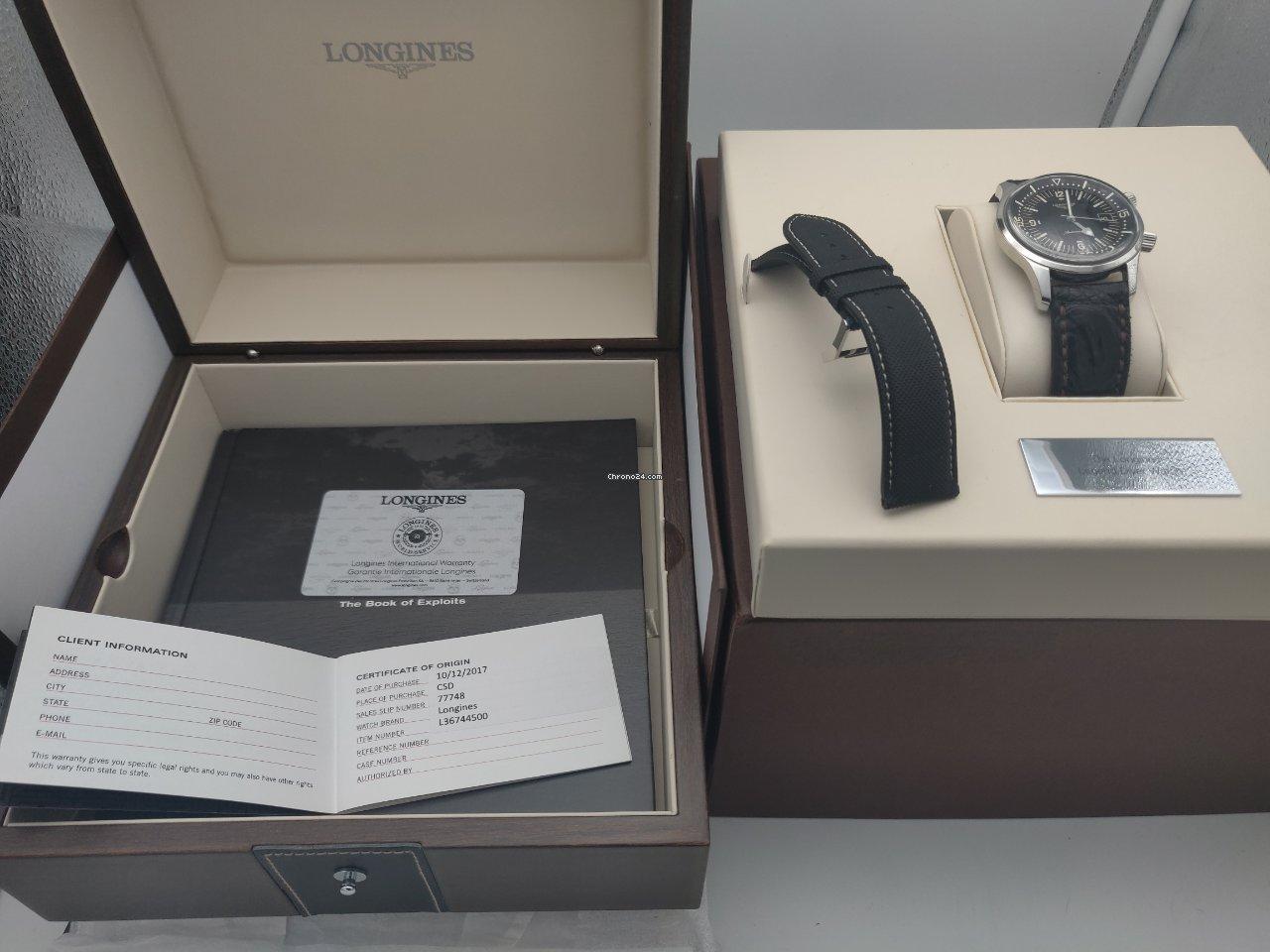 Longines Legend Diver L3.674.4.50.0 2017 pre-owned