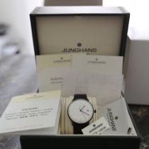 Junghans max bill Automatic подержанные 38mm Белый Дата Кожа