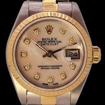 Rolex Lady-Datejust Złoto/Stal 26mm Masa perłowa Bez cyfr