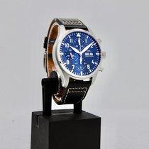 IWC Pilot Chronograph Çelik 43mm Mavi Arap rakamları