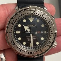 Seiko Marinemaster pre-owned 47.7mm Black Date Weekday Rubber