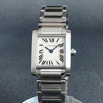 Cartier Tank Française new Quartz Watch with original box and original papers W51008Q3/2384