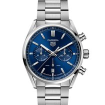 TAG Heuer Carrera Steel 42mm Blue No numerals United States of America, New York, Mamaroneck