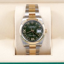 Rolex Datejust Gold/Steel 36mm Green United States of America, California, Los Angeles