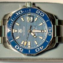 TAG Heuer Silver Automatic Blue No numerals 41mm new Aquaracer 300M