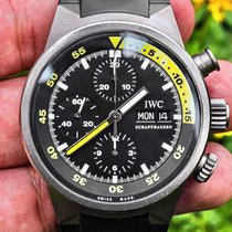 IWC Titanium Automatic Black No numerals 42mm pre-owned Aquatimer Chronograph