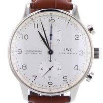 IWC Portuguese Chronograph Witgoud 41mm Zilver Arabisch