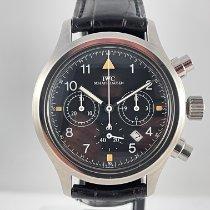 IWC Pilot Chronograph Staal 36mm Zwart Arabisch Nederland, Kerkrade