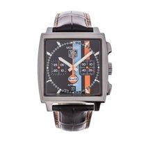 TAG Heuer Monaco pre-owned 38mm Chronograph Date Crocodile skin