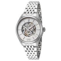 Oris女性手表Artelier骷髅33mm自动新手表与原始盒子和原始文件