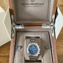 Girard Perregaux Steel Automatic Blue No numerals 42mm pre-owned Laureato