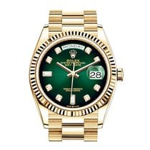 Rolex Day-Date 36 Yellow gold Green United States of America, New York, New York