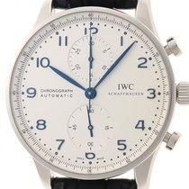 IWC 포르투기즈 크로노그래프 스틸 41mm 흰색 아라비아 숫자