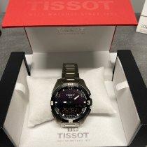 Tissot T-Touch Expert Solar pre-owned 45mm Black Chronograph Date Perpetual calendar Alarm Titanium
