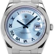 Rolex Platinum Automatic Blue Roman numerals 41mm new Day-Date II