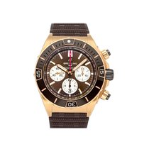 Breitling Rose gold Automatic Brown No numerals 44mm Chronomat