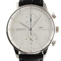 IWC Portuguese Chronograph White gold 41mm Silver