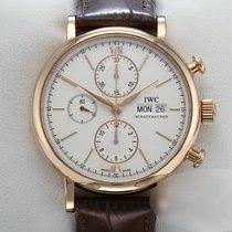 IWC Portofino Chronograph Roségold 42mm Champagnerfarben Keine Ziffern Deutschland, München