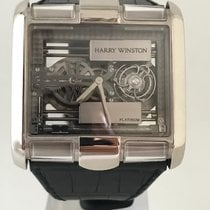 Harry Winston Platin Handaufzug Transparent 49mm gebraucht Avenue