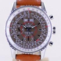 Breitling Montbrillant Datora Steel 43mm Brown No numerals