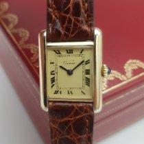 Cartier Tank Vermeil Silver 20mm Champagne Roman numerals