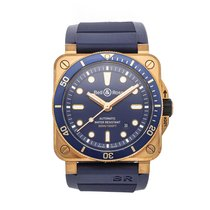 Bell & Ross Bronze Automatic Blue No numerals 42mm pre-owned BR 03