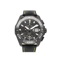 TAG Heuer Aquaracer 300M pre-owned 43mm Black Chronograph Date Leather