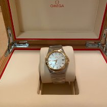 Omega Constellation Ladies pre-owned 35mm Gold (solid) Date Gold/Steel