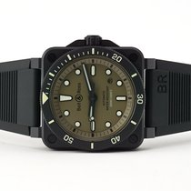 Bell & Ross Ceramic Automatic Green No numerals 42mm new BR 03