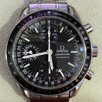 Omega Speedmaster Day Date pre-owned 39mm Black Chronograph Date Weekday Month Tachymeter Steel