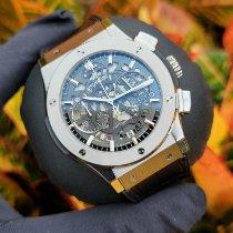 Hublot Classic Fusion Aerofusion pre-owned 45mm Transparent Chronograph Date Crocodile skin