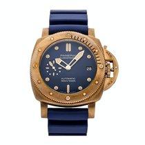 Panerai Bronze Automatic Blue No numerals 42mm Special Editions