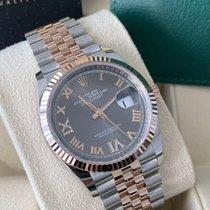 Rolex Datejust Zlato/Zeljezo 36mm Crn