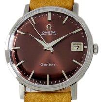 Omega Genève Staal 33mm Bruin Geen cijfers