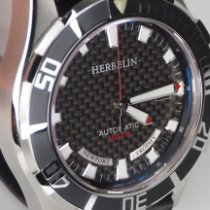 Michel Herbelin Newport (submodel) pre-owned 45mm Black Date Steel