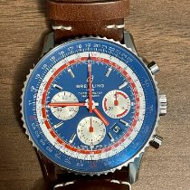 Breitling Steel Automatic Blue 43mm pre-owned Navitimer 1 B01 Chronograph 43
