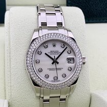 Rolex Pearlmaster Or blanc 31mm