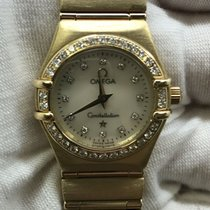 Omega Yellow gold Quartz Mother of pearl 22.5mm pre-owned Constellation Quartz
