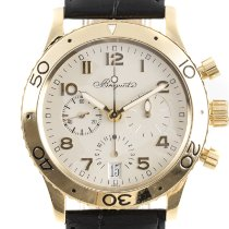 Breguet Yellow gold Automatic Silver 39.5mm pre-owned Type XX - XXI - XXII