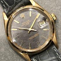 Rolex Oyster Perpetual Date Желтое золото 34mm Cерый Без цифр
