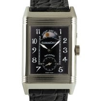 Jaeger-LeCoultre White gold Manual winding Black 36.5mm pre-owned Reverso Duoface