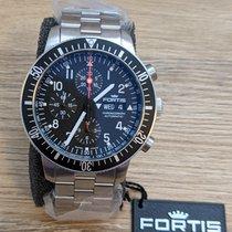 Fortis Otel Atomat Negru Arabic 42mm nou B-42 Official Cosmonauts