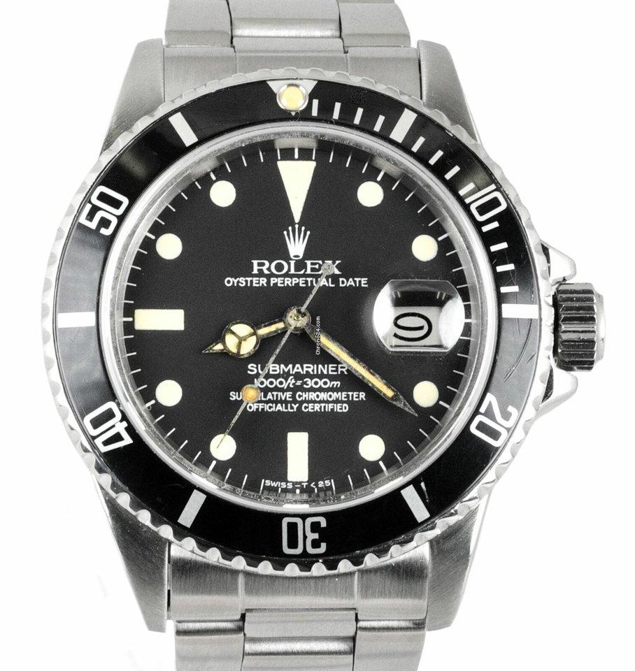 Rolex RARE Vintage 10 Rolex Submariner Date MATTE Black... für ...
