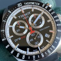 Tissot PRS 516 Сталь 42mm Черный Без цифр