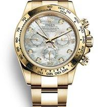 Rolex Daytona Yellow gold 40mm Mother of pearl No numerals Australia